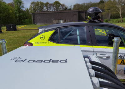 Full power: Mobile charging infrastructure for the Opel Corsa-e Rally